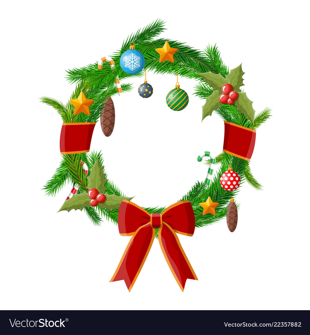 Christmas wreath fir evergreen wreath