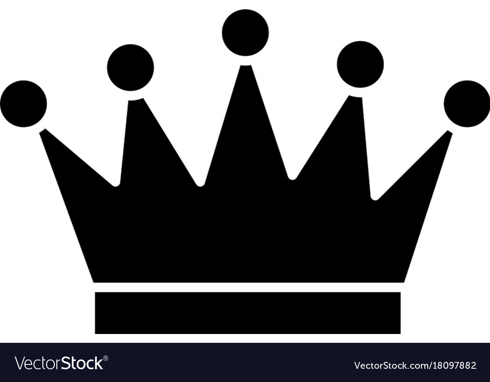 Crown icon black sign on