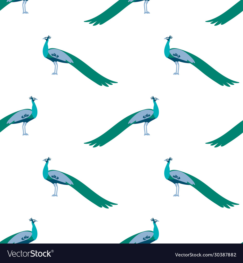 Seamless pattern peacock