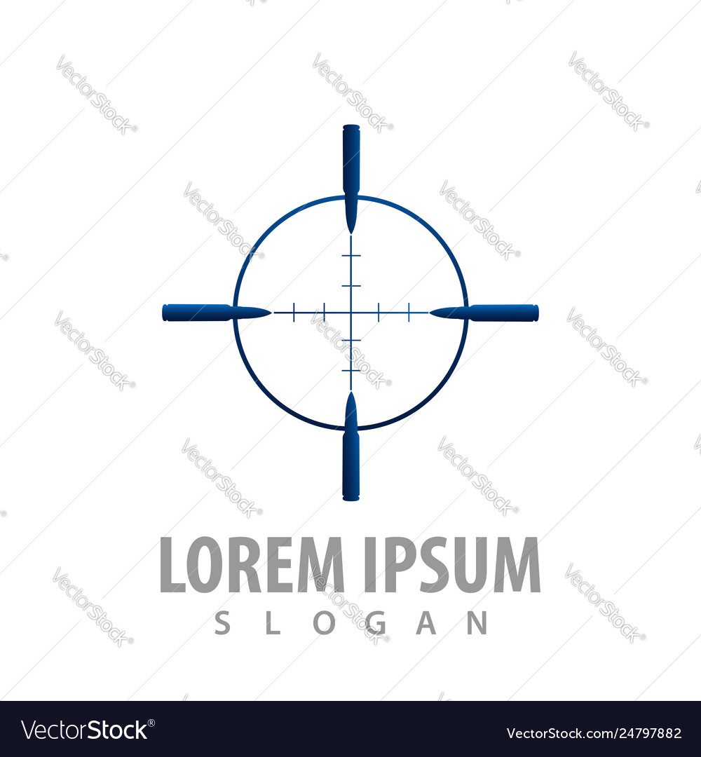 Simple line target sign concept design symbol