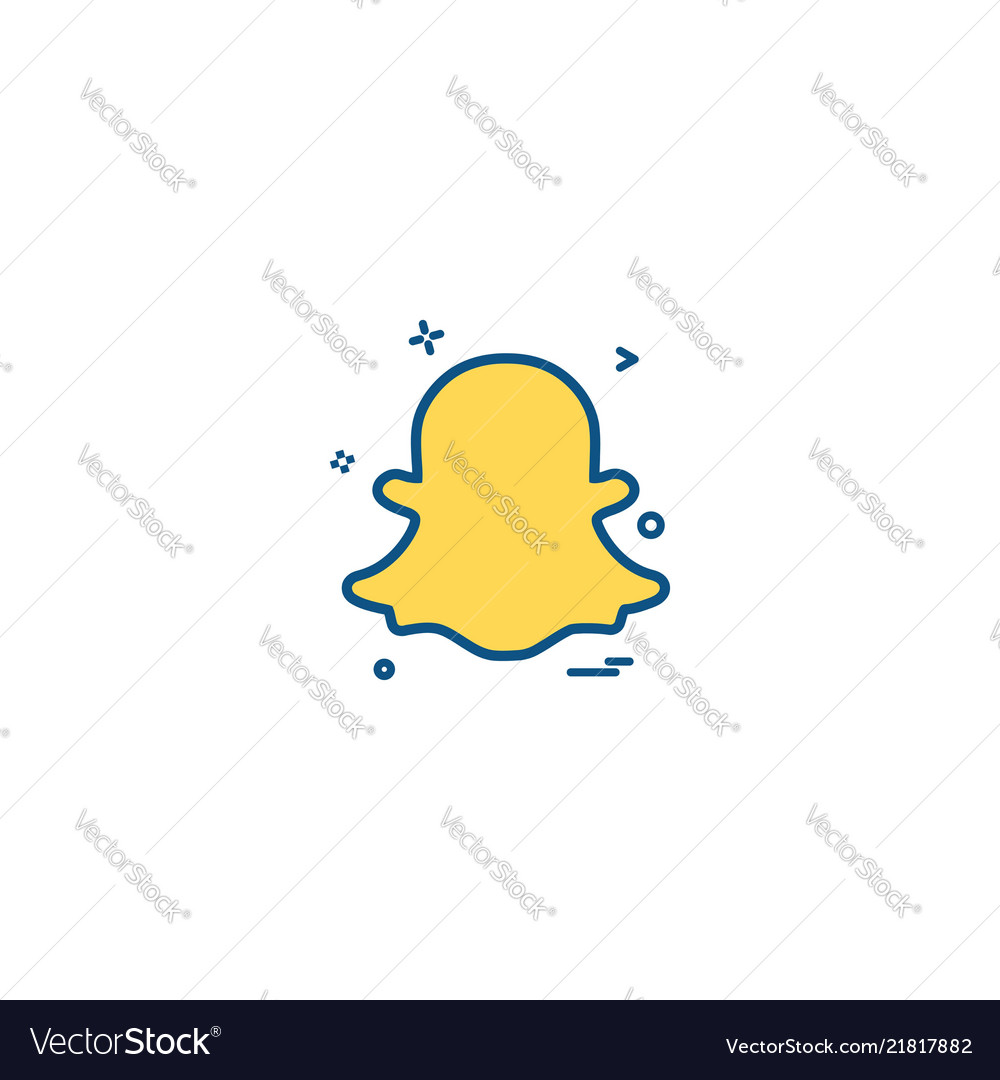 Snapchat Icon Design Royalty Free Vector Image