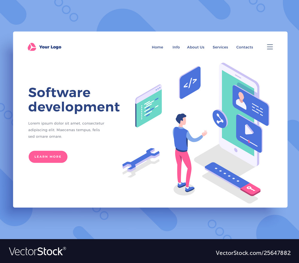 Software development concept office woman and