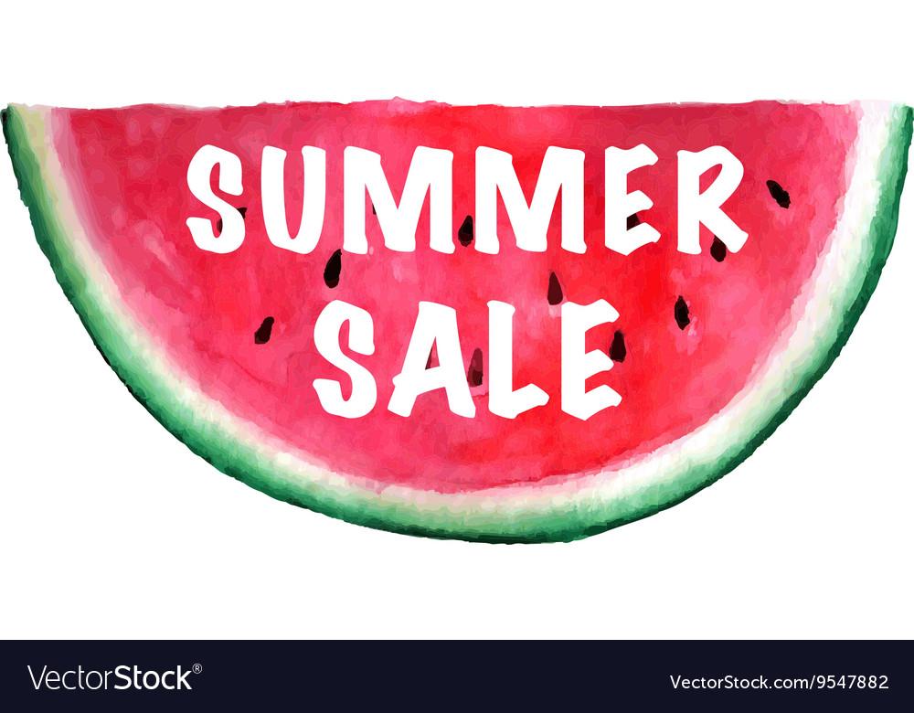 Summer Sale Banner watercolor