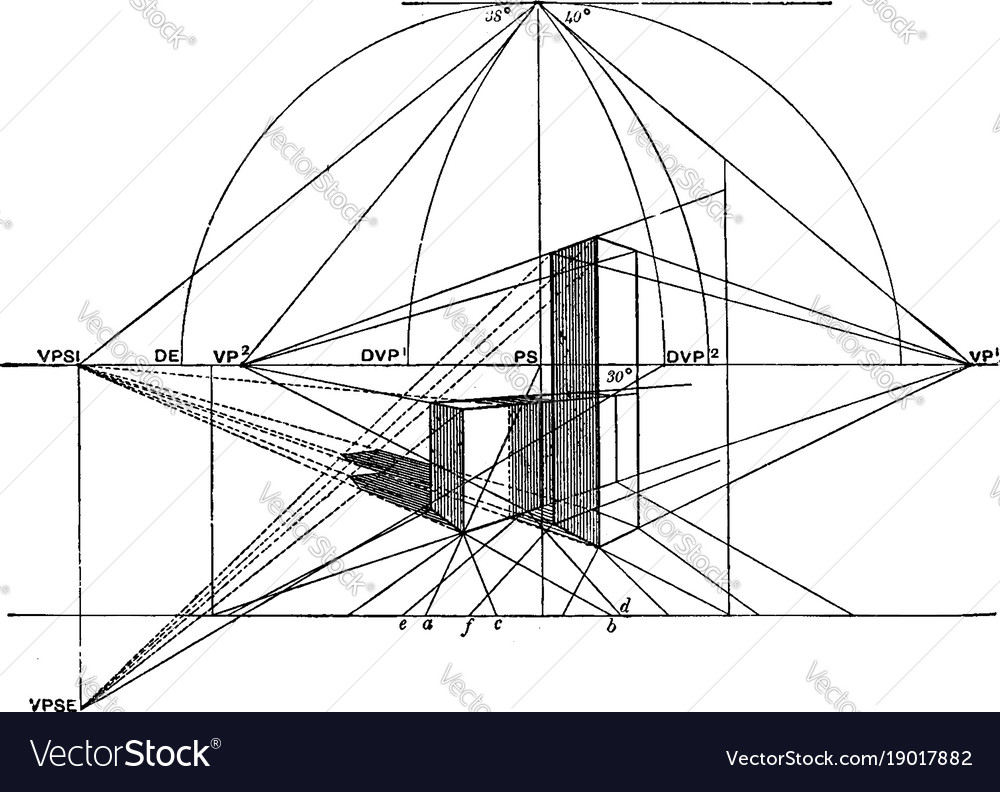 Three dimensional drawing necessary to draw vector image