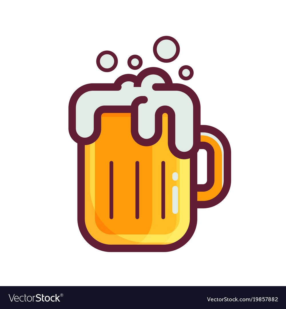 Yellow beer glass icon