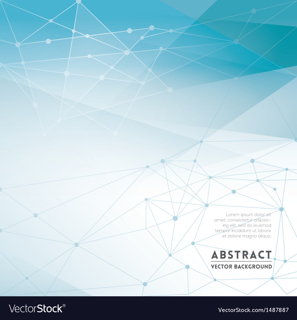Abstract Network Background vector image