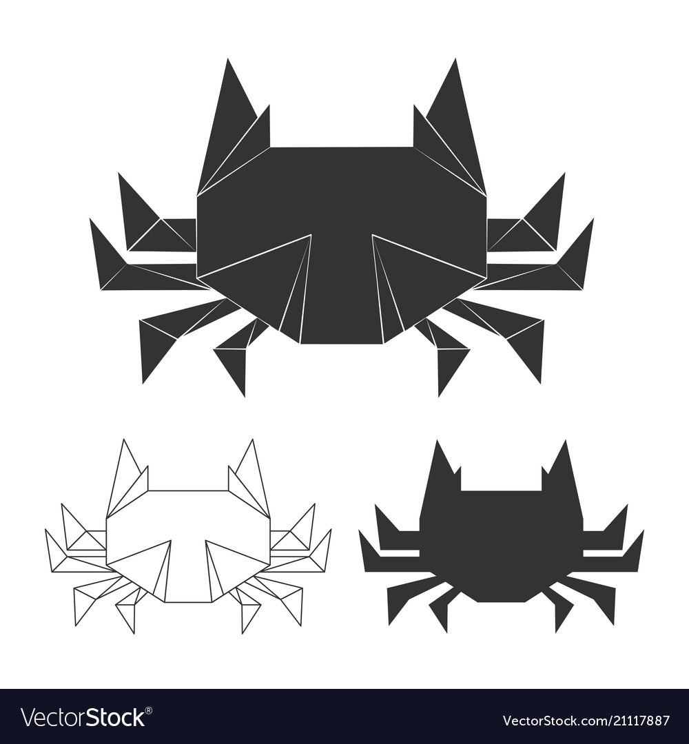 Paper japanese crabs vector