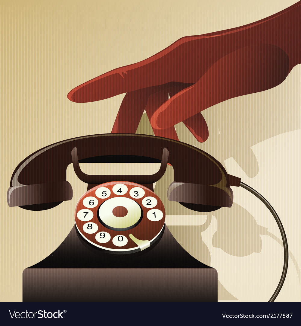 Retro telephon vector image