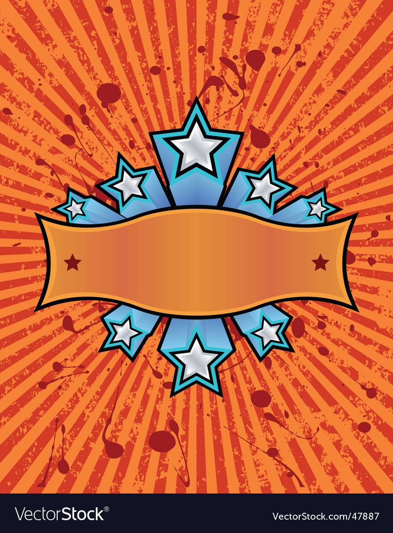 Star banner orange