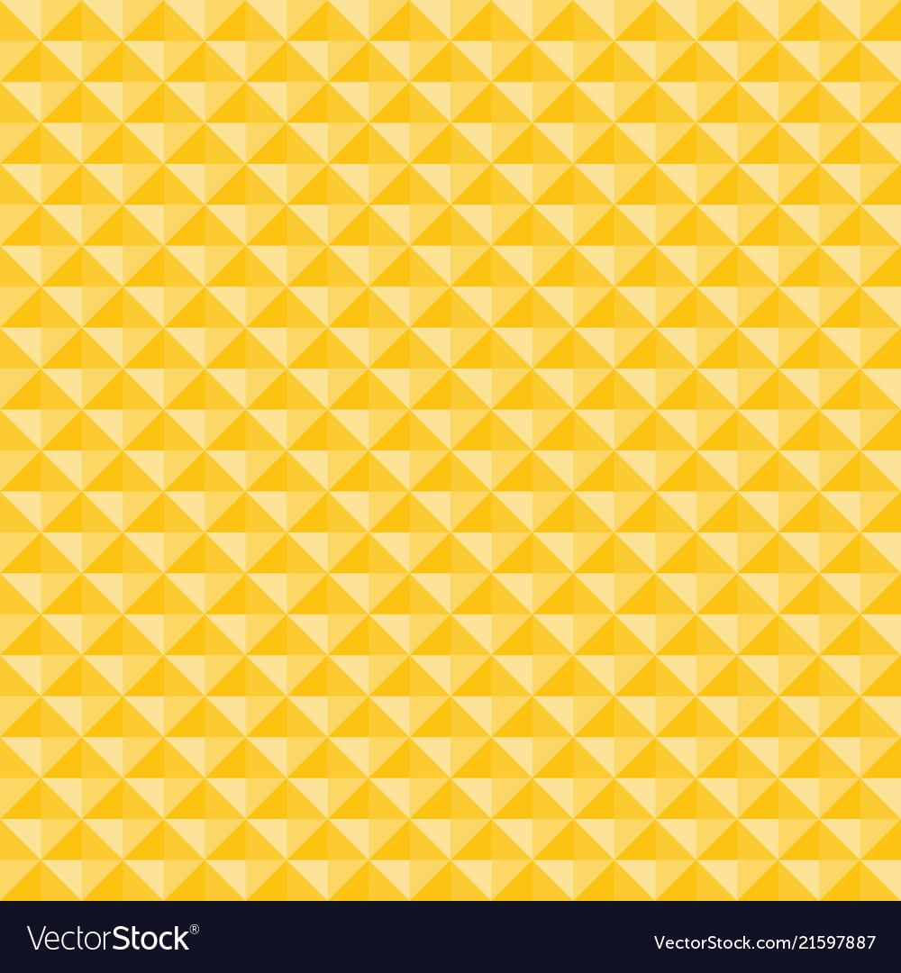 Yellow geometric triangles pattern seamless