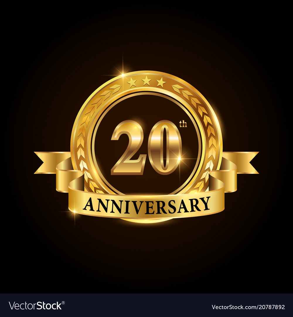 20 years anniversary celebration logotype