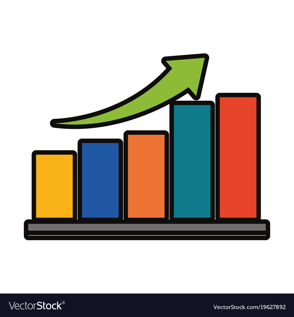 bar graph icon image royalty free vector image