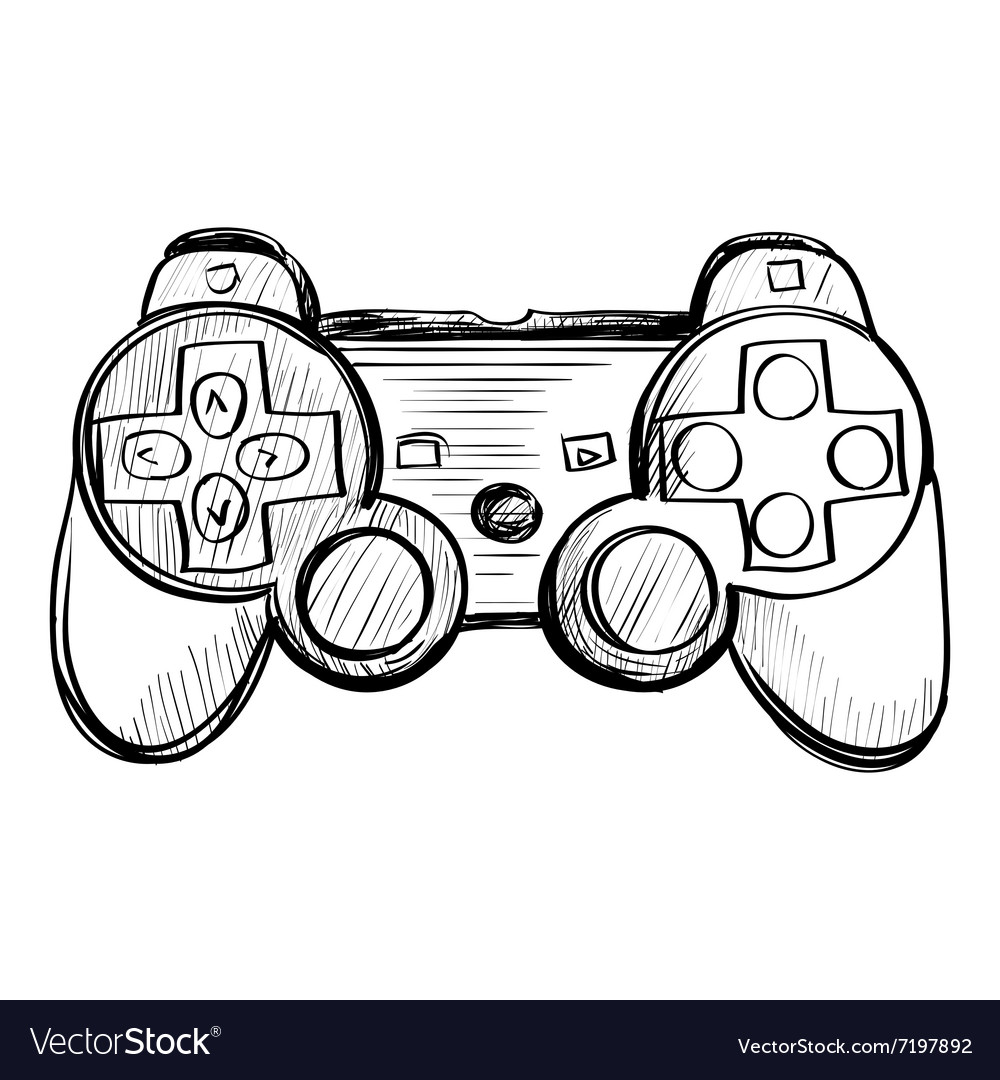 Doodle gamepad on a white background
