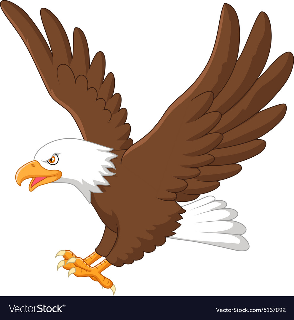 eagle cartoon royalty free vector image vectorstock rh vectorstock com cartoon eagle pictures free baby eagle cartoon images