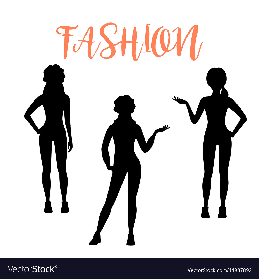 Fashion woman silhouette in sporty style