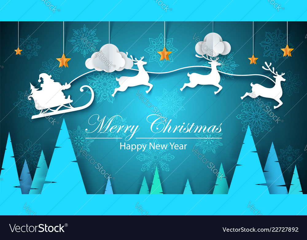 Merry christmas happy new year - paper