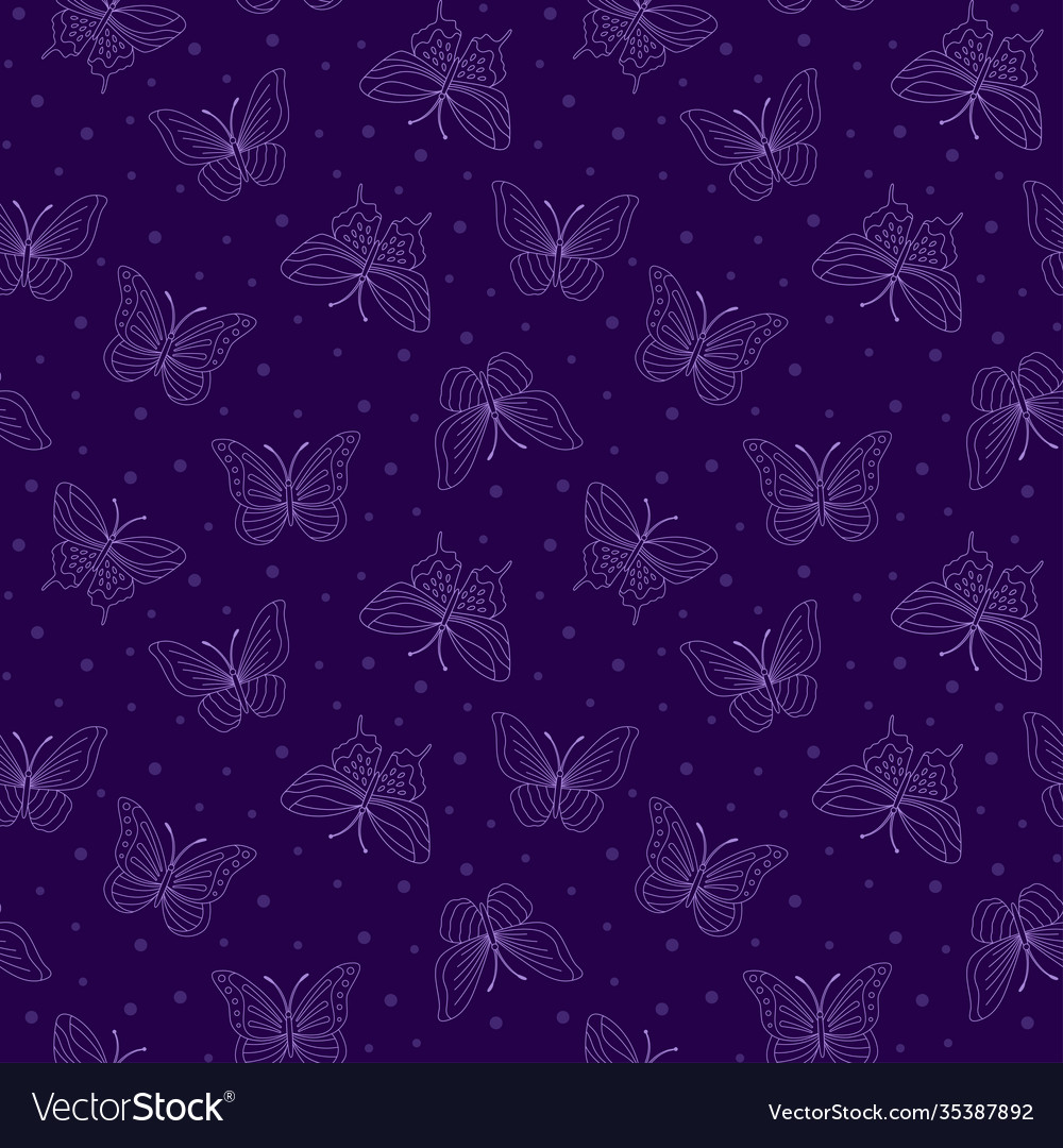 Seamless bright pattern with butterflies