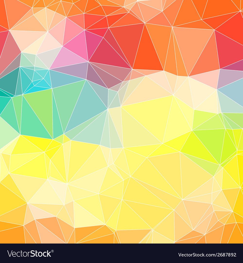 Triangle Colorful Abstract Background Template For