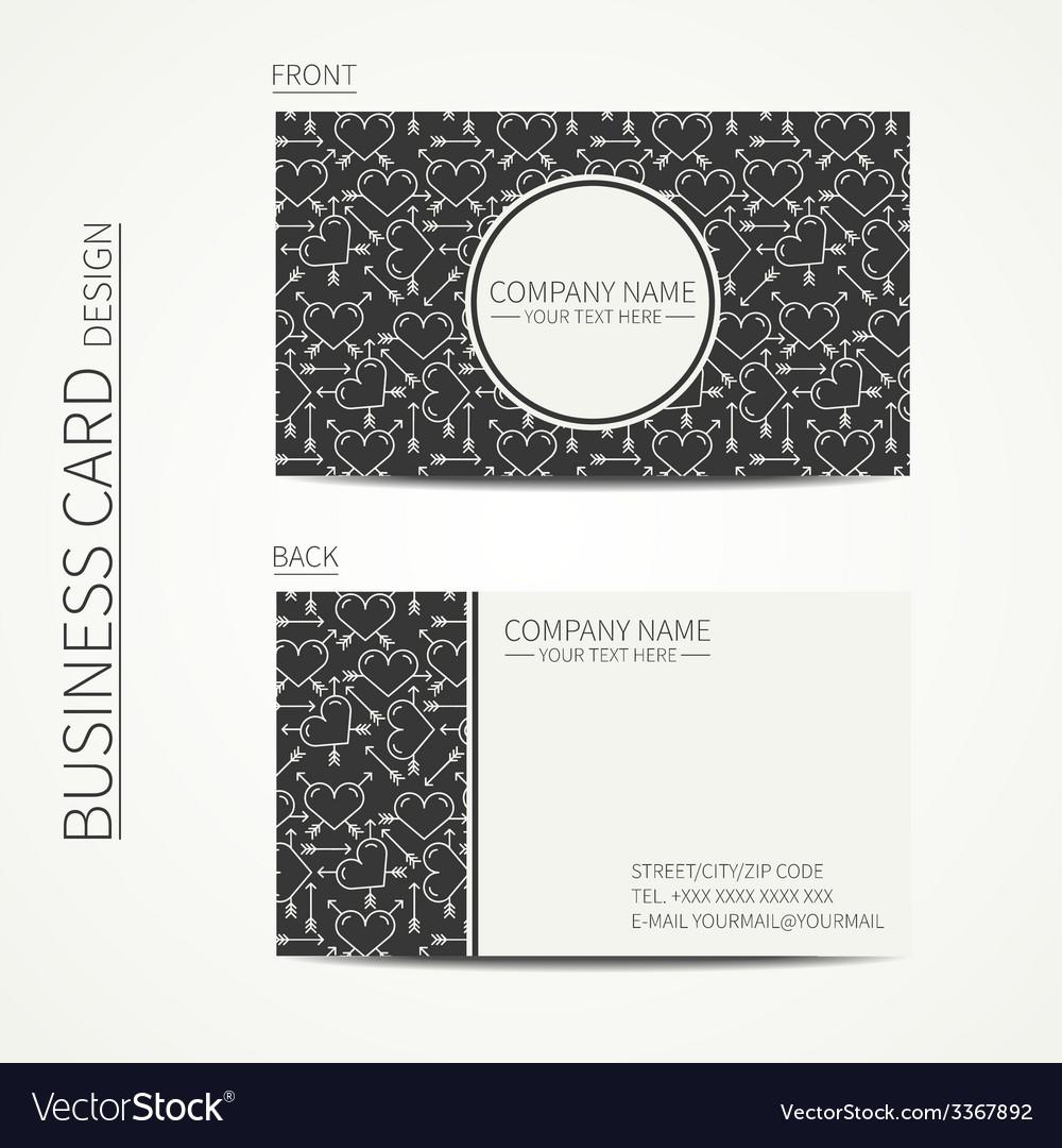 Vintage creative simple business card template