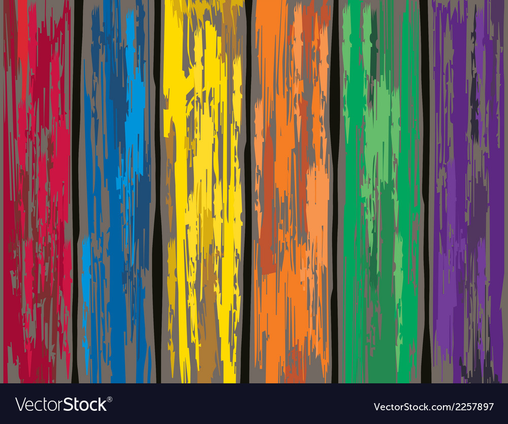 Merveilleux Colored Old Wooden Fence Background Vector Image