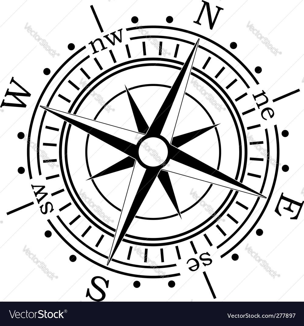 compass royalty free vector image vectorstock rh vectorstock com compass vector free download vintage compass vector