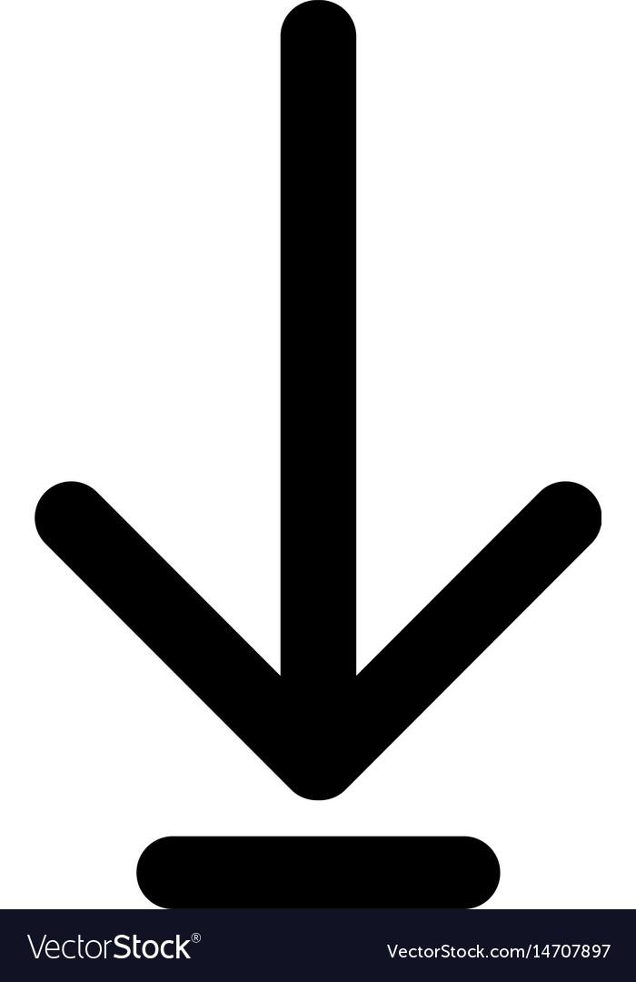 Down Arrow Or Load Symbol The Black Color Icon Vector Image