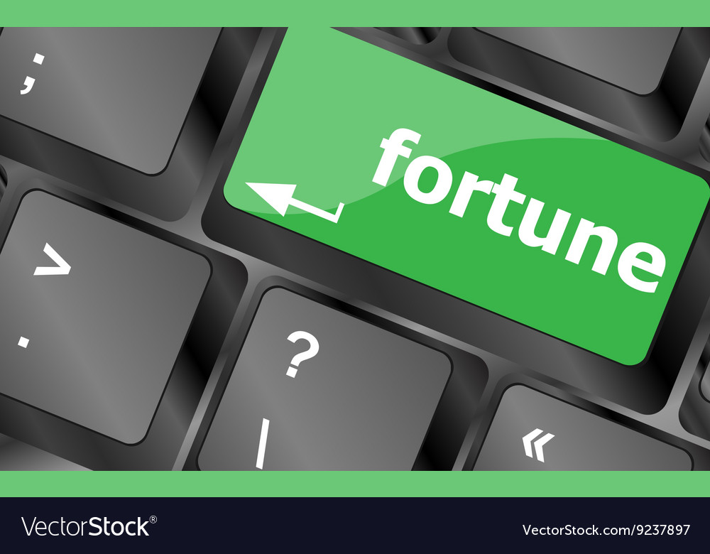 Fortune for investment concept with button on