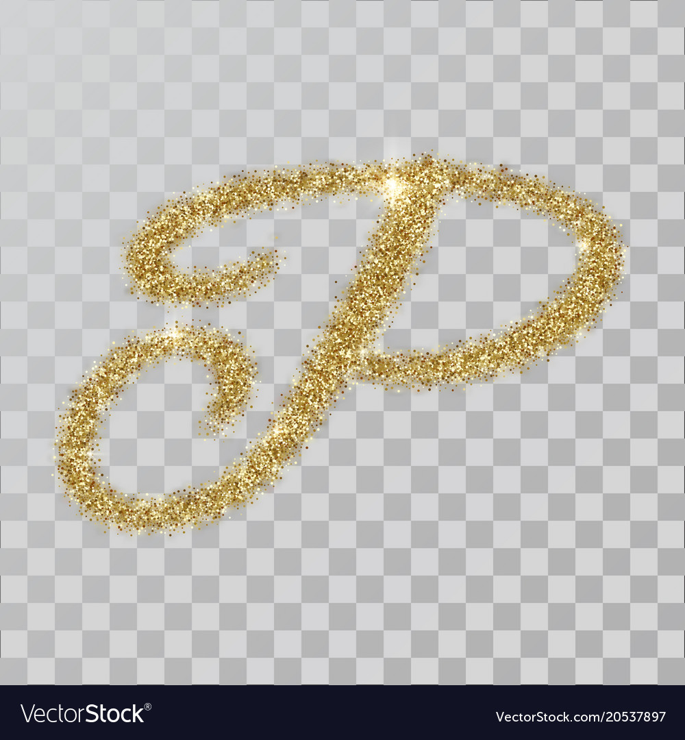 P Letter Images.Gold Glitter Powder Letter P In Hand Painted Style
