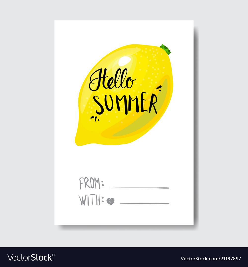 Hello summer badge isolated typographic design