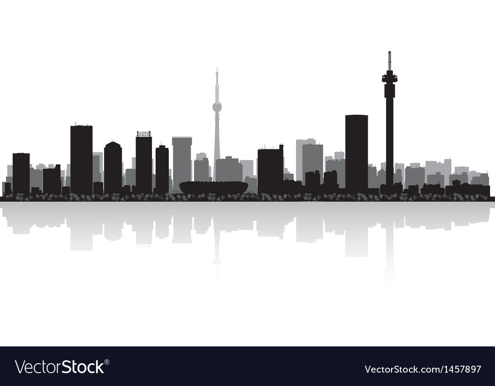 Johannesburg city skyline silhouette royalty free vector johannesburg city skyline silhouette vector image thecheapjerseys Images