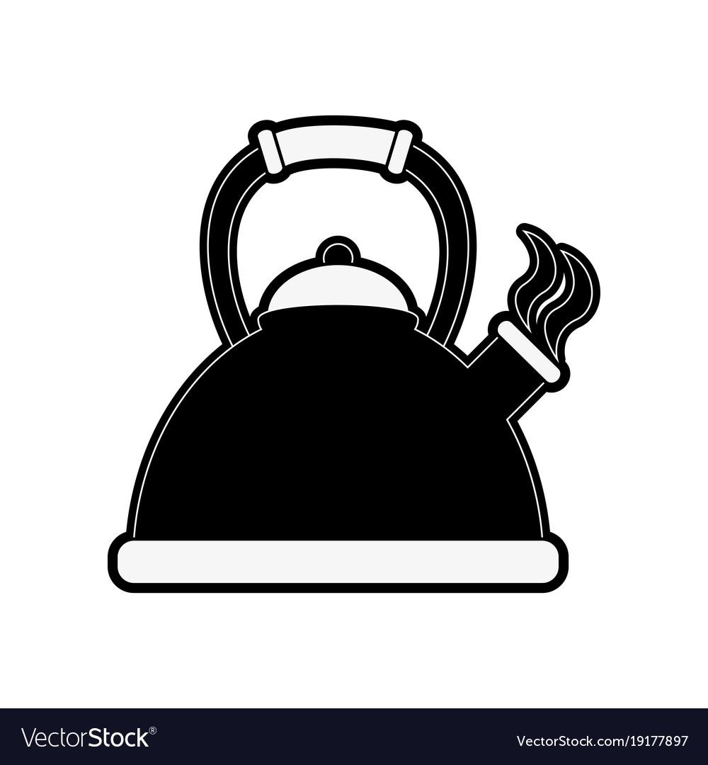 Kettle kitchen appliance vector image