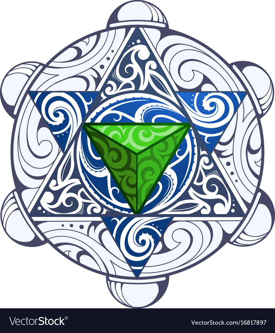 Mystic symbol with pattern vector image