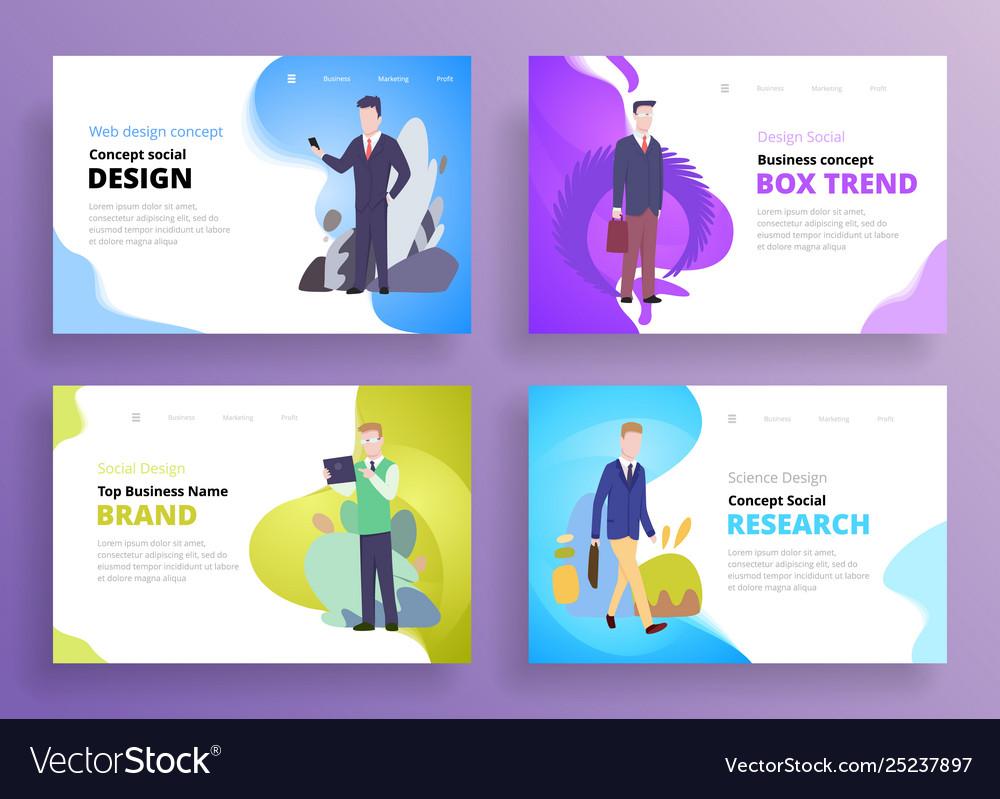 Presentation slide templates or hero banner images