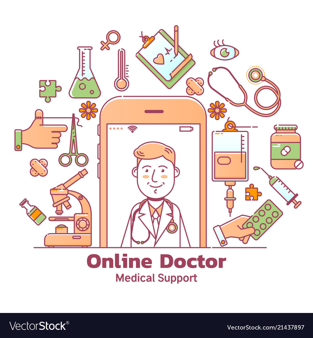 Telemedicine and online doctor consultation with