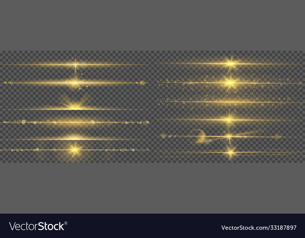 Warm glow light lines glare abstract bright gold
