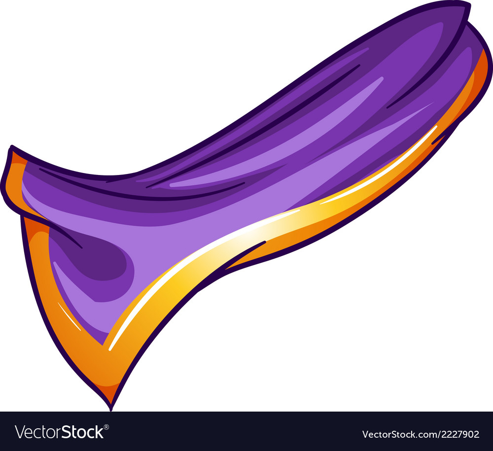 A violet-orange colored handkerchief vector image