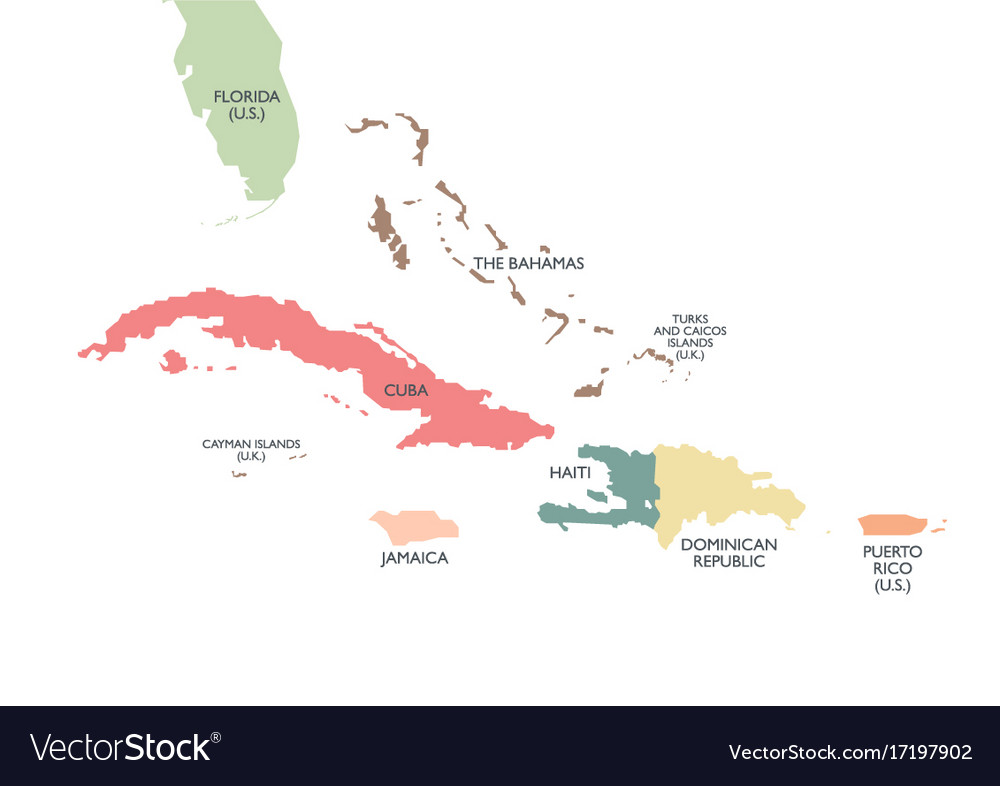 Greater antilles political map