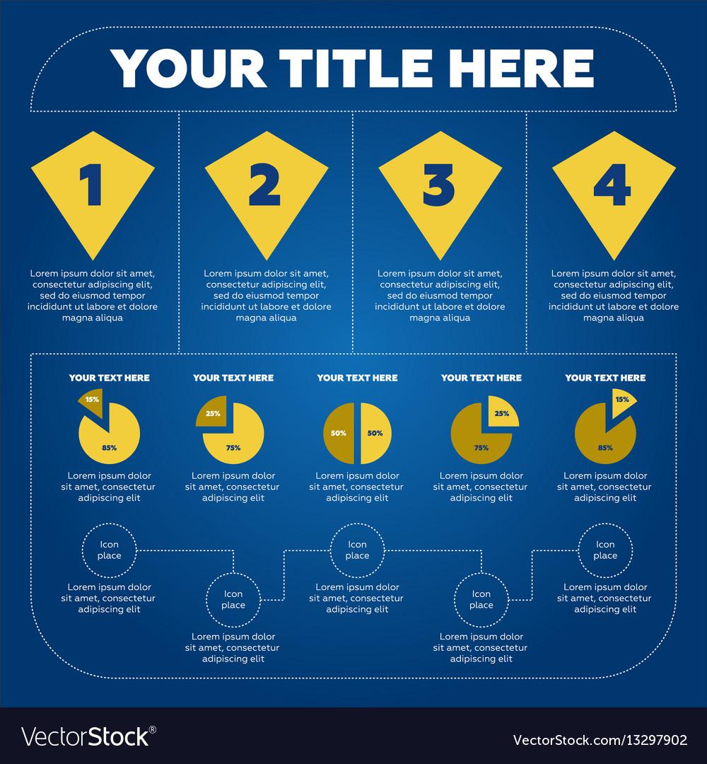 Infographics elements - pie chart 4 steps