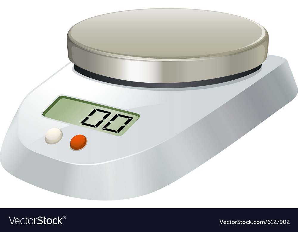 Lab scale with metal plate