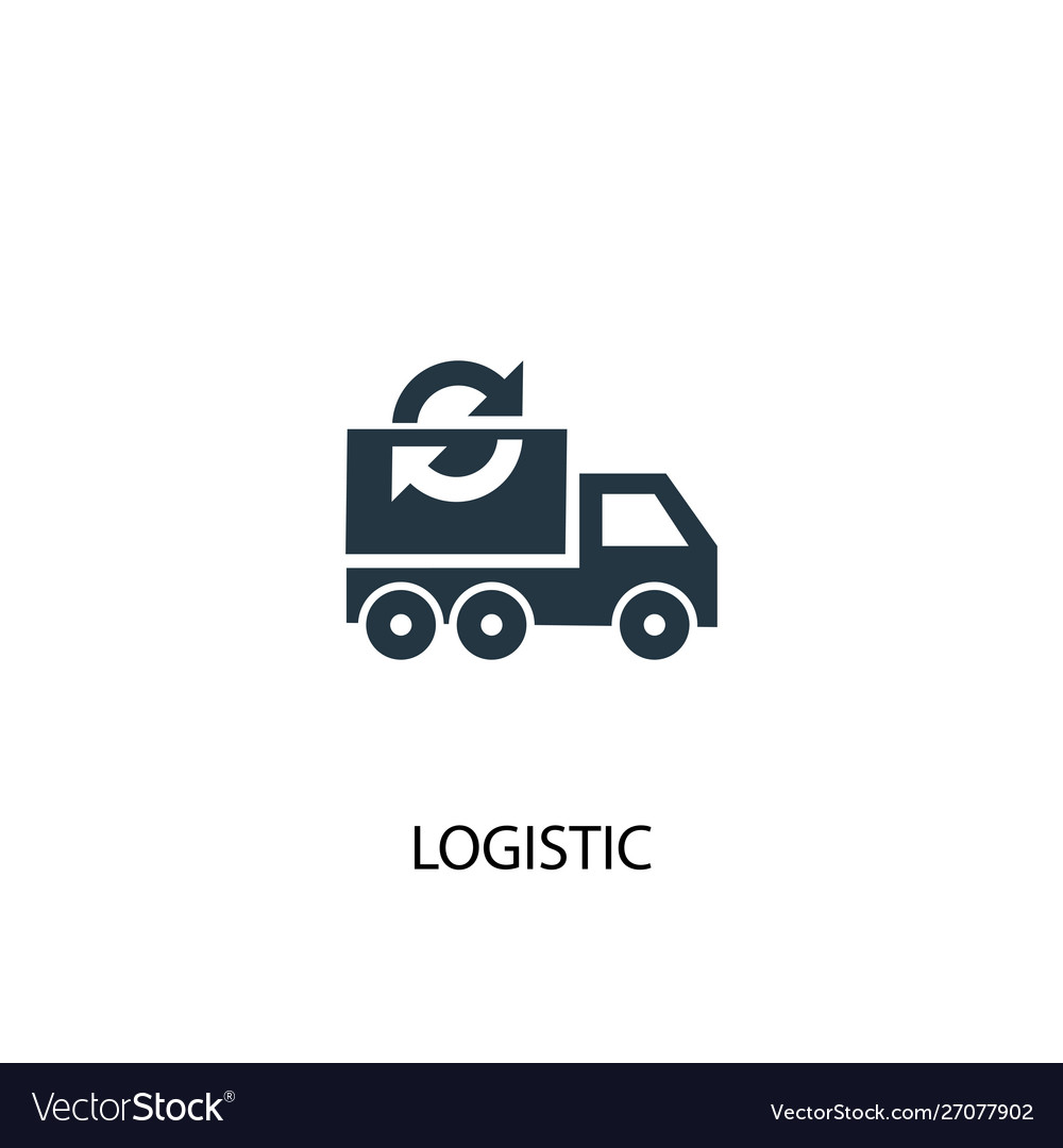 Logistic icon simple element