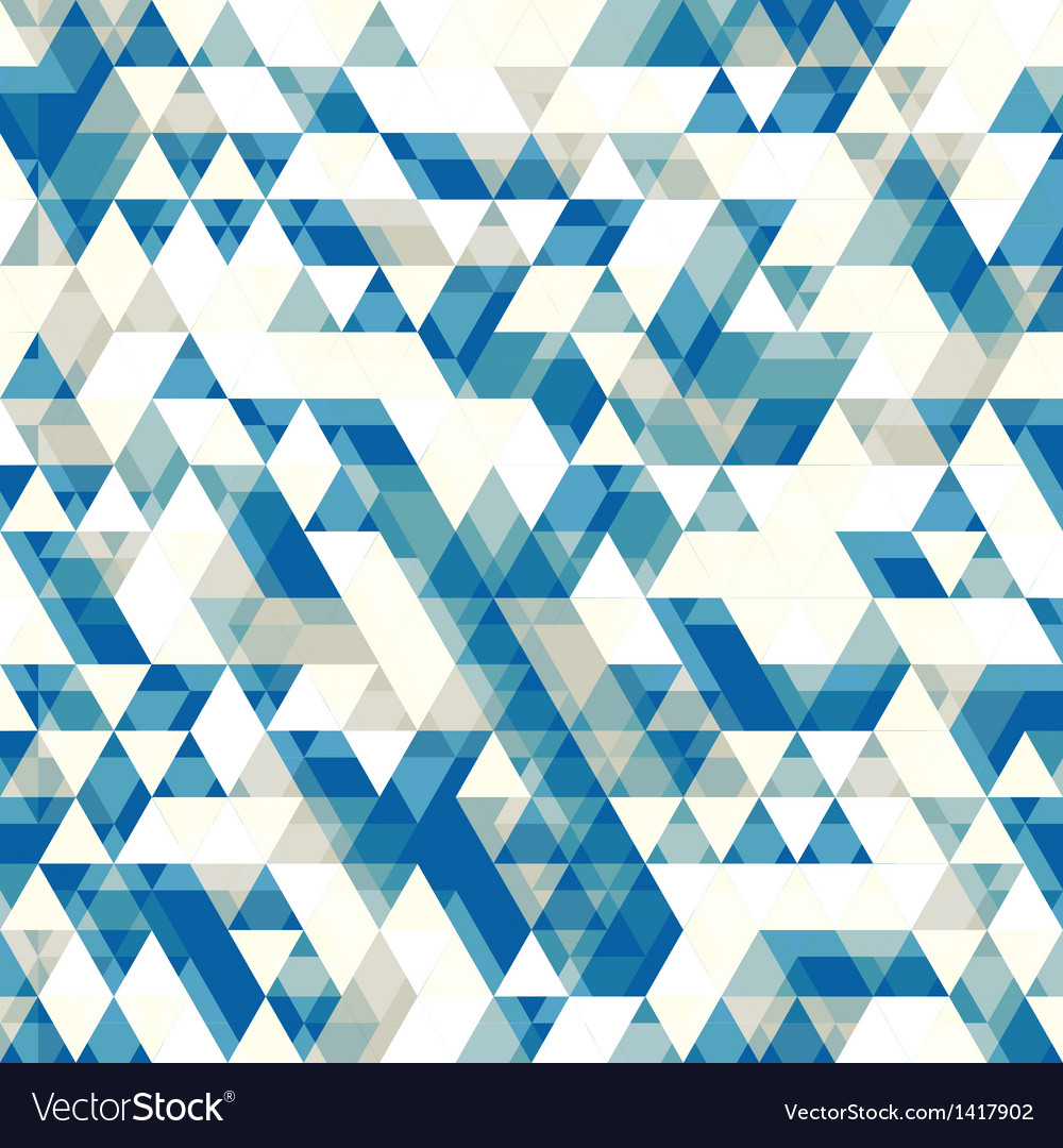 Retro abstract pattern with triangles