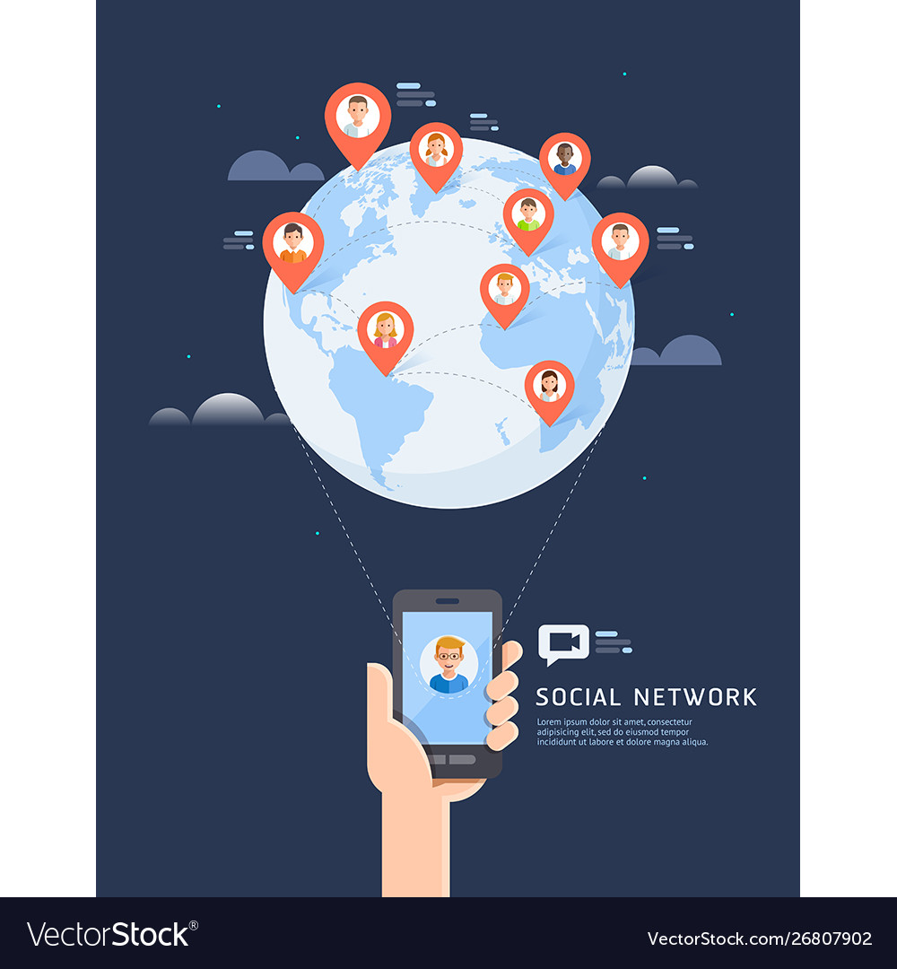 Social network global communication flat