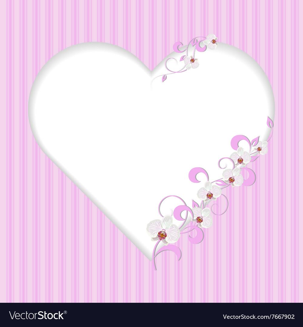 Vintage frame in shape of a heart