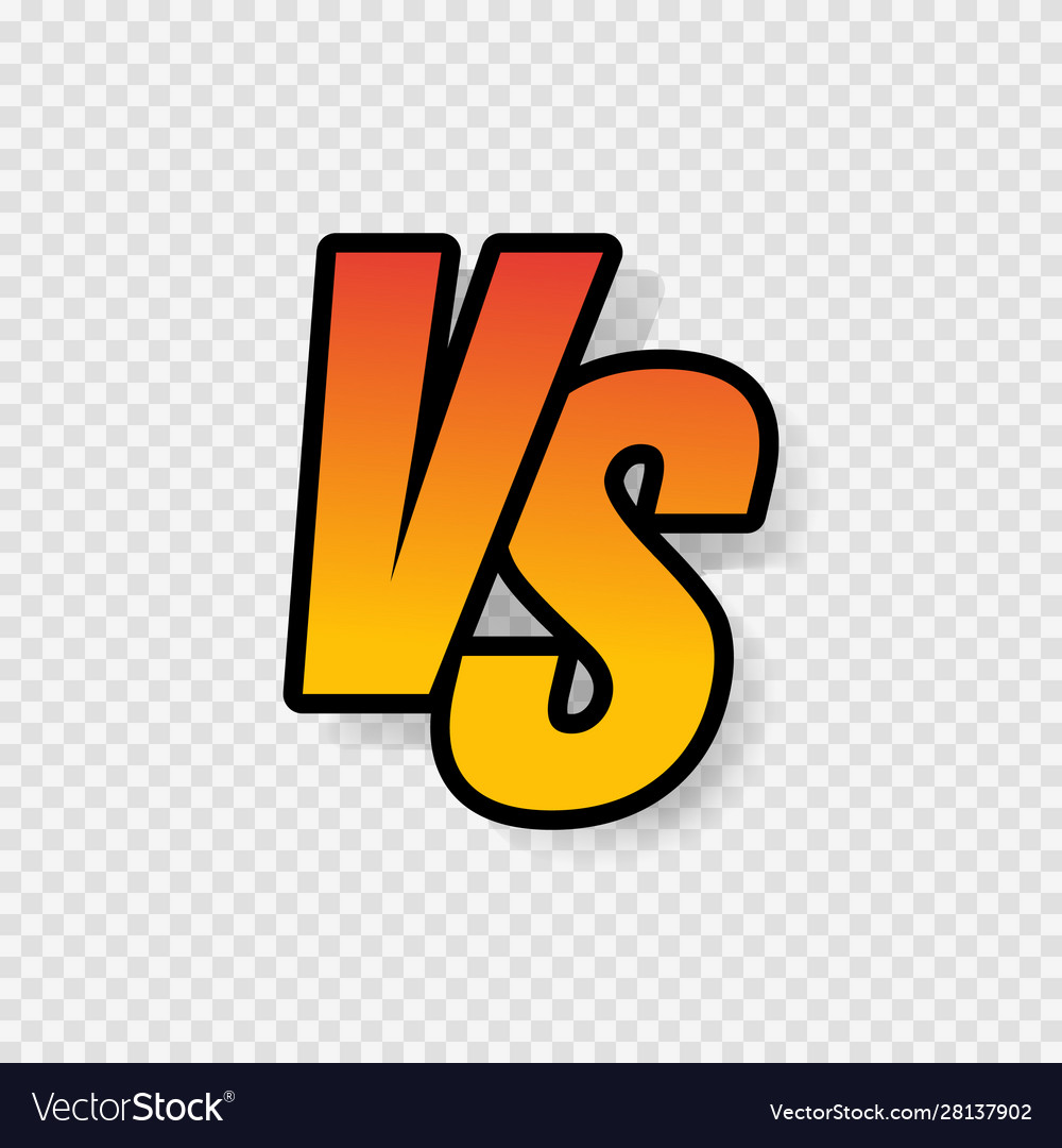 Vs letters or versus logo sign isolated on