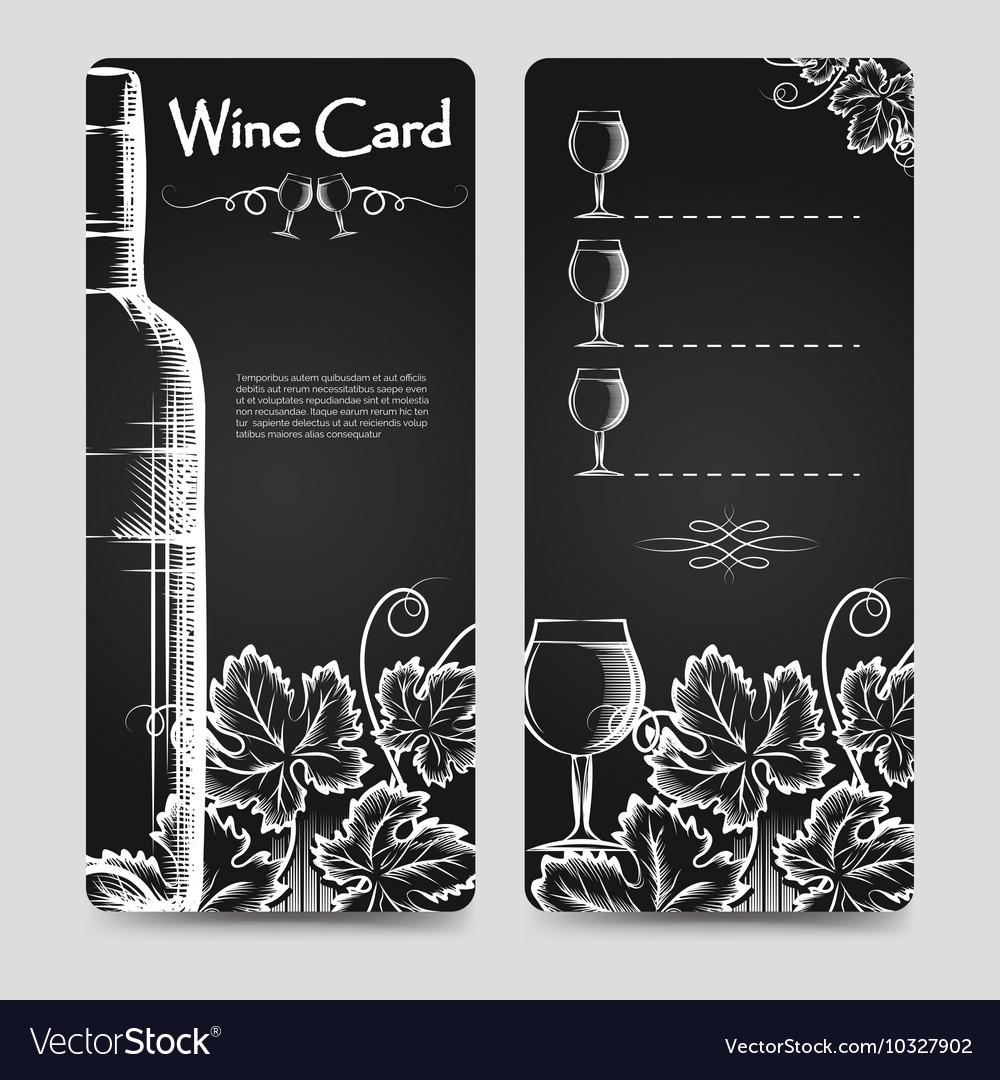 Wine card menu flyers template