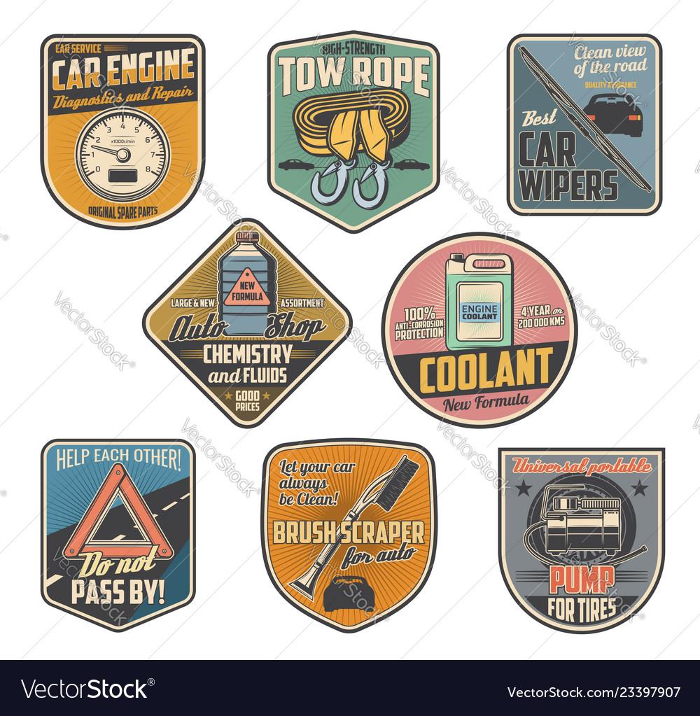Auto parts and car repair service accessories