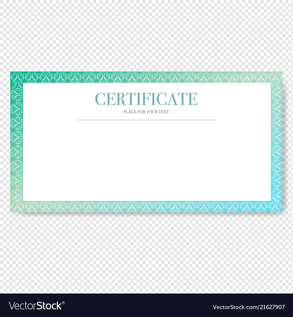Certificate isolated transparent background