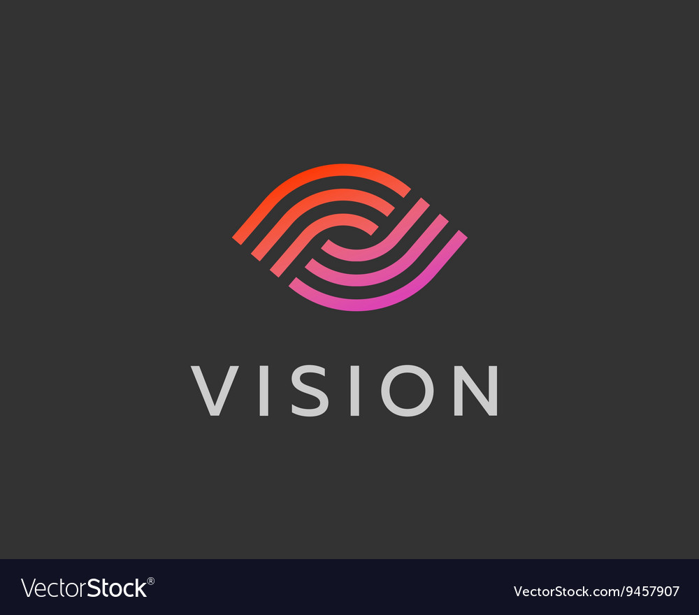 Eye logo symbol design Creative camera media icon vector image