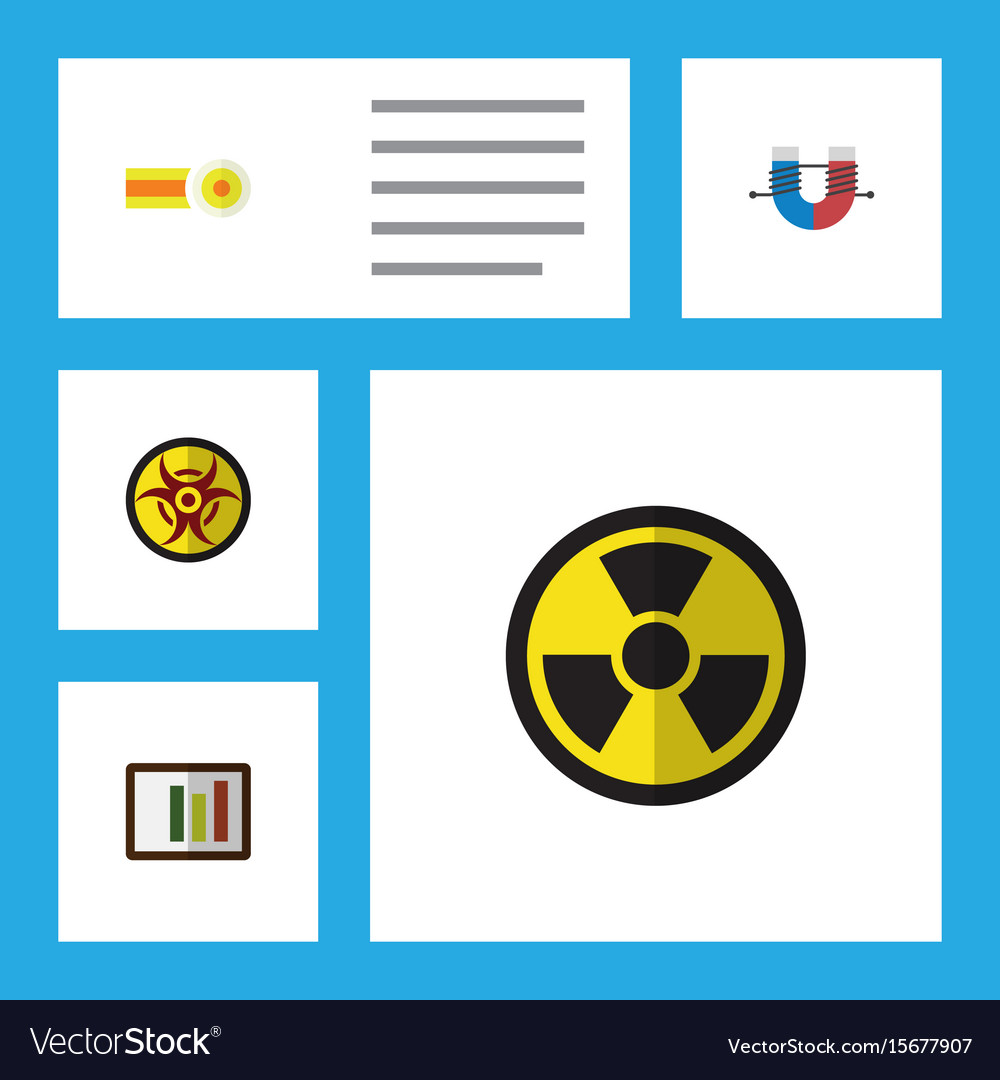 Flat Icon Study Set Of Diagram Attractive Force Vector Image Diagrams