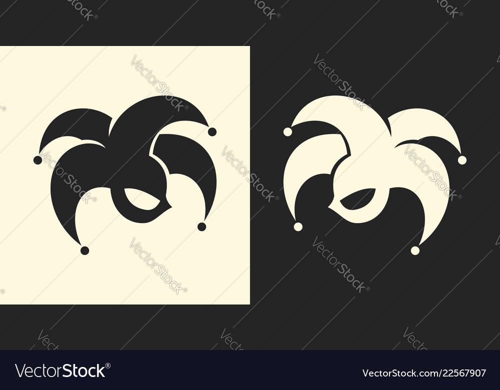 Jester or clown symbol joker sign icon